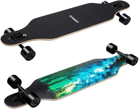40 Inch Drop Through Longboard Skateboard