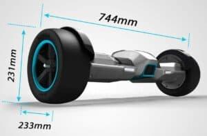 gyroor g-f1 hoverboard dimension