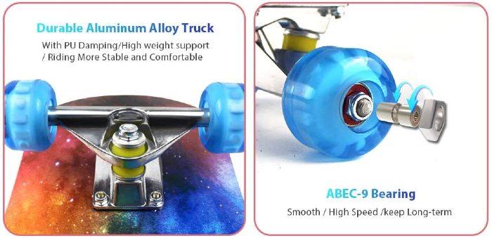 Cruiser Pro Skate Wheels And Bearings