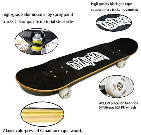 Dinbin Skateboard Dimension