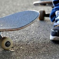 contact patch for street wheels for skateboarding
