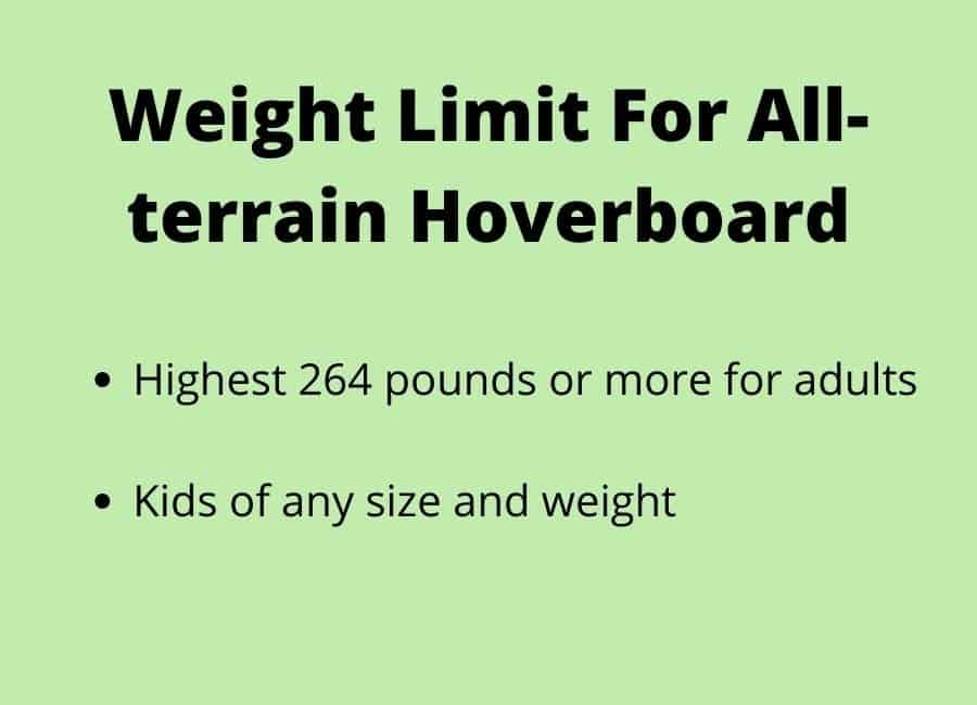 Weight Limit For all terrain hoverboard