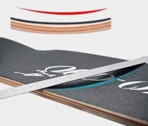 radial concave deck