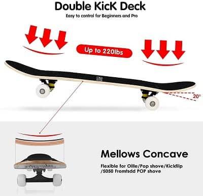 Double kick deck