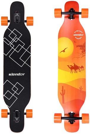 Slendor Longboard Skateboard 42 inch
